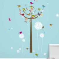Funky Wall Stickers - Birdie Tree