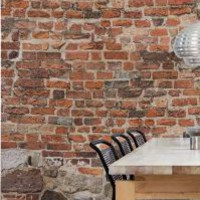 Mr Perswall - Communication - Old Brick - Wallpaper