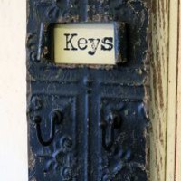 Distressed Metal Key Hooks