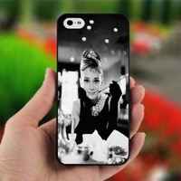 Audrey Hepburn II - Design for iPhone 5 Black Case