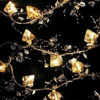 Antiqued Glass LED Fairy Lights