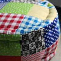 Mini Patchwork Pouffes  Footstools - Pirates