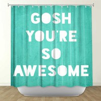 Rachel Burbee's 'Awesome' | Artistic Shower Curtains