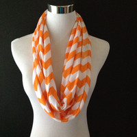 Tennessee Volunteers This Is Your Scarf New Jersey Knit Tangerine/White Infinity Chevron Fashion Scarf