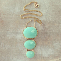 Pree Brulee - Mint Himalaya Pendant Necklace