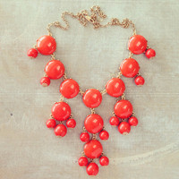 Pree Brulee - Orange Bauble Necklace
