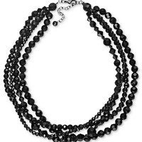 Charter Club Necklace, Five Strand Jet Bead