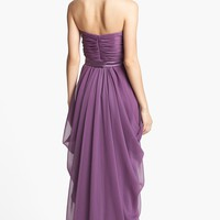 Lela Rose Bridesmaid Draped Silk Chiffon Dress | Nordstrom
