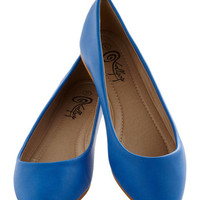 Defined the Scenes Flat in Royal Blue | Mod Retro Vintage Flats | ModCloth.com