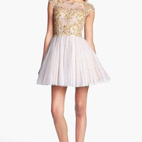 Sherri Hill Embellished Lace Fit & Flare Dress | Nordstrom