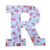 Mosaic Wall Letter, Nursery Art