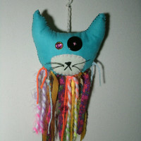 CARNIVAL CAT Soft Sculpture Hanging Plush With Streamers and Sweets
