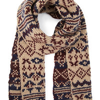Reversible Fair Isle Scarf