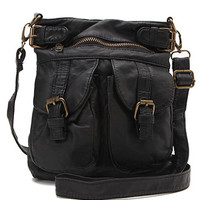 Black Poppy Small Satchel Crossbody Bag at PacSun.com