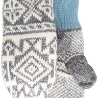 Muk Luks Women's North American Button Mittens