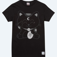 Unlucky Cat Black T-Shirt