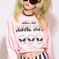 CHILL OUT HOMEBOY CROP SWEAT SHIRT