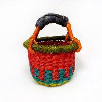 Small Grass Basket - Handmade in Bolgatanga, Ghana West Africa