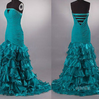 Green prom dresses, long prom dresses, cheap prom dresses, prom dresses 2014, sexy prom dresses, dresses for prom, RE451