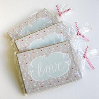 Love Notes Postcard Set by thefabledneedle