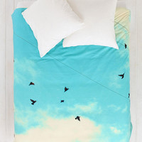 Shannon Clark For DENY Blue Skies Ahead Duvet Cover- Blue