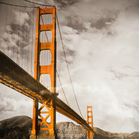 Golden Gate Bridge Orange Towers 85x11inch Photo by SSCphotography