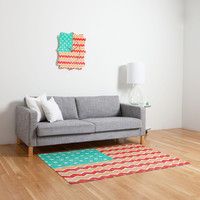 DENY Designs Home Accessories | Nick Nelson Zig Zag Flag Woven Rug
