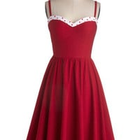 Stop Staring! The Neyla Dress in Rouge | Mod Retro Vintage Dresses | ModCloth.com