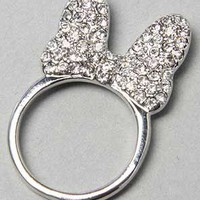Karmaloop.com - Global Concrete Culture - The Flat Crystalized Bow Ring in Silver by *The Extras