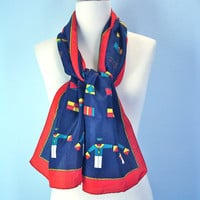 Preppy 80s Nautical Scarf