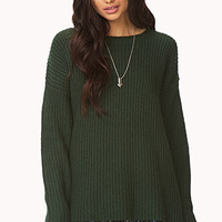 Borrowed-From-The-Boys Knit Sweater