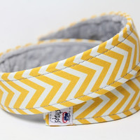 Chevron Camera Strap-Lemondrop Chevron Strap - DSLR Camera Strap - Custom Camera Strap