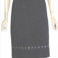 Talbots Charcoal Gray Tweed Skirt