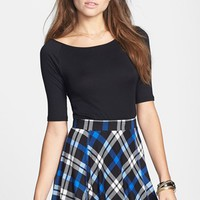 Painted Threads Plaid Skater Skirt (Juniors) (Online Only) | Nordstrom