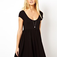 ASOS Smock Playsuit with Cap Sleeves