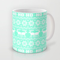 Ho Ho Ho Tiffany Ugly Xmas Sweater Pattern Mug by RexLambo