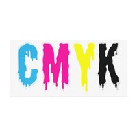 Dripping CMYK Stretched Canvas Print