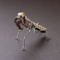 Mechanical Mantis No 15 Sculpture Made from Recycled Watch Parts Clockwork Mantis Mantid Watch Stems and Faces Insect A Mechanical Mind