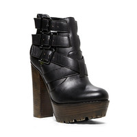 Steve Madden - DESI BLACK LEATHER
