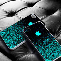 Mint Sparkle for iphone 4/4s, iphone 5/5s/5c case, samsung s3/s4 case cover in mbledoos