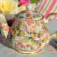 English Collectables Fine Ceramic Autumn Leaves 3 Cup Teapot