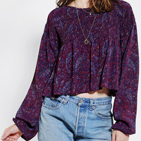 Staring At Stars Smocked Peasant Blouse - Urban Outfitters