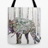 Winter Wonder Dog Tote Bag by Ben Geiger