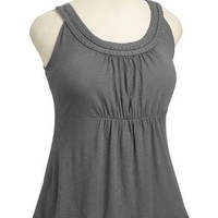 Old Navy Womens Plus Pintucked Henley Tank Top