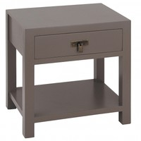 NEW! Rama & Sita Slate Grey Bedside Table with Shelf