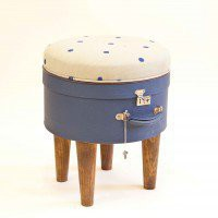 Hatbox Ottoman &amp;#8211; Blue Dot 191 ? Furniture ? Recreate