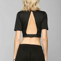 Sparkle & Fade Jacquard Open-Back Cropped Top - Urban Outfitters