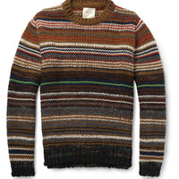 Billy Reid Striped Chunky-Knit Sweater | MR PORTER