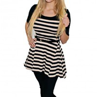 Striped Day Belted Tunic
