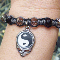 Steal Your Yin Yang Grateful Dead Stealie Hemp Bracelet handmade jewelry hippie
